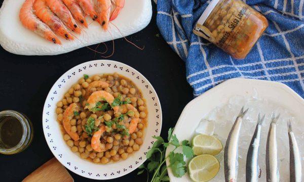 garbanzos-con-langostinos-salsa-de-anchoa